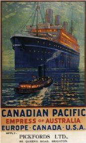 Vintage Travel Poster Canadian Pacific Empress Of Australia